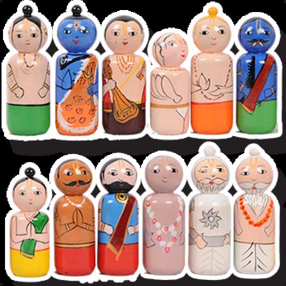 12 Mahajana Wooden Toys